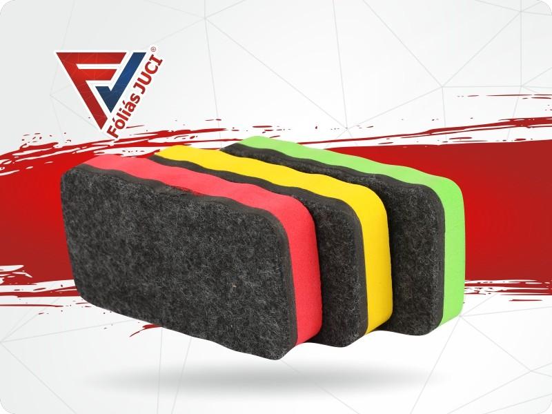 Mágneses Törlő Szivacs Öntapadós Táblafóliához Vagy Whiteboard Fóliához - Lila